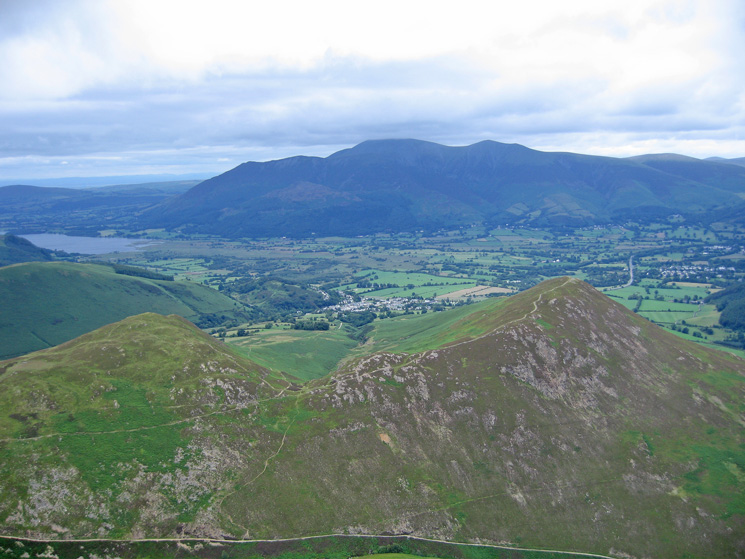 Stile End and Barrow below and the Skiddaw fells