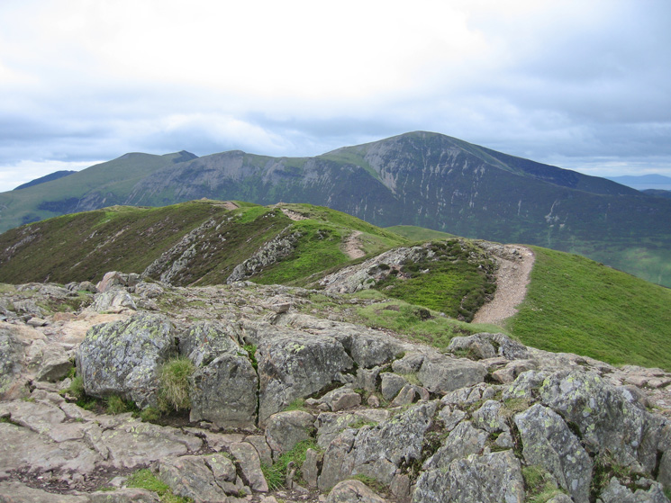 Hopegill Head and Grisedale Pike from Causey Pike's summit