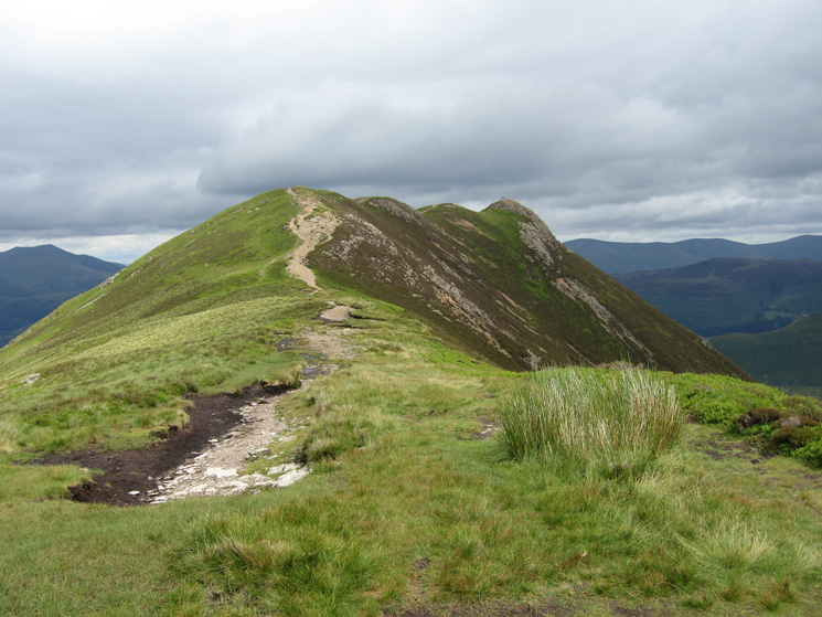 Looking back to Causey Pike as we head for Scar Crags
