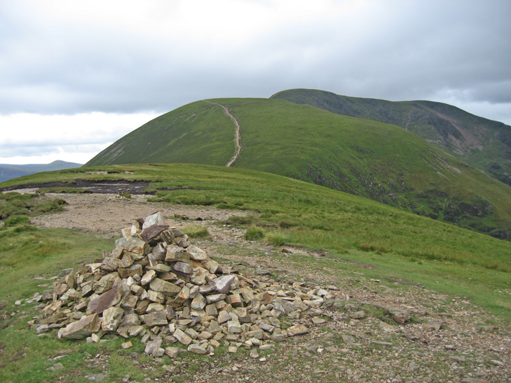 Sail with Eel Crag behind from Scar Crags summit cairn