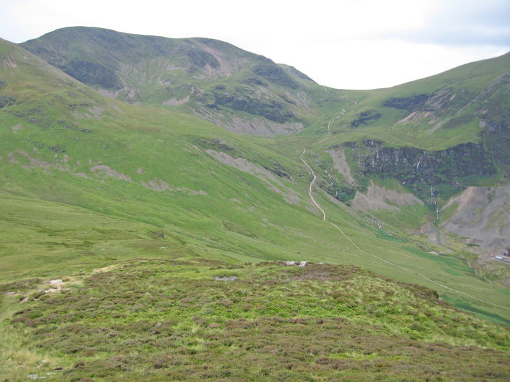 Crag Hill (Eel Crag) and Coledale Hause from Outerside