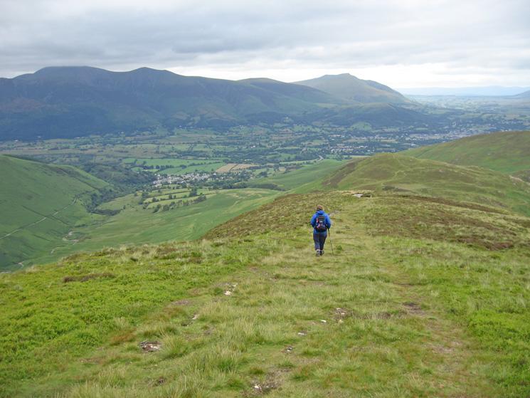 Descending Outerside's northeast ridge