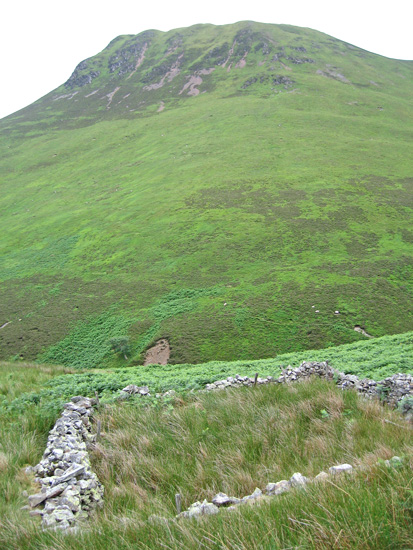 Causey Pike from the sheepfold at NY 217216