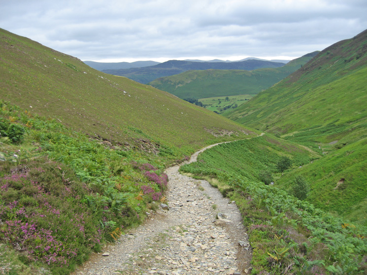 The old mine track by Stonycroft Gill