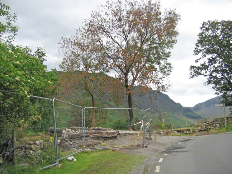 Rigg Beck, the purple house, was destroyed by fire on 30 June this year