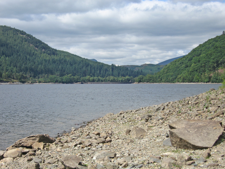 Looking down Thirlmere to the dam