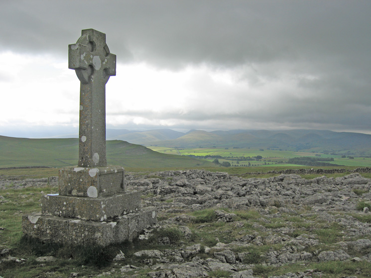Jubilee Monument on Beacon Hill, looking south east towards the Howgills