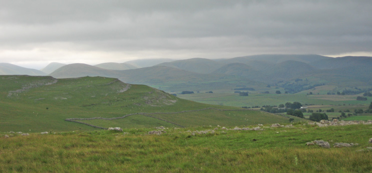 The Howgill Fells from Beacon Hill