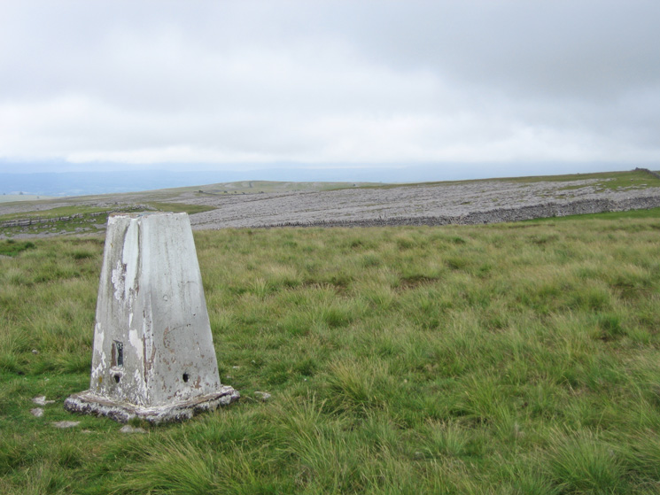 The trig point on Knott's summit (412m)