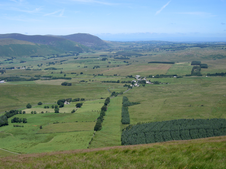 The old rifle range, the hamlet of Troutbeck and Carrock Fell