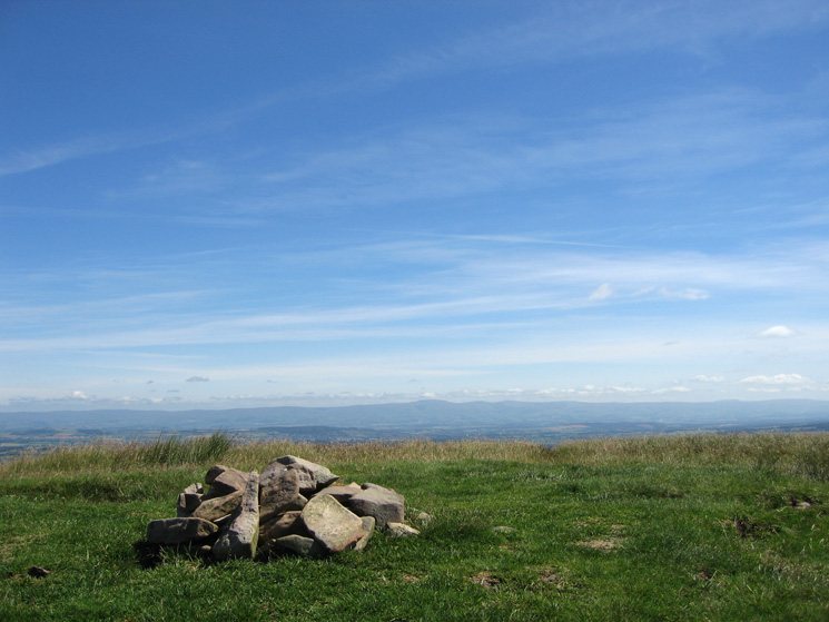 The North Pennines from Great Mell Fell's summit