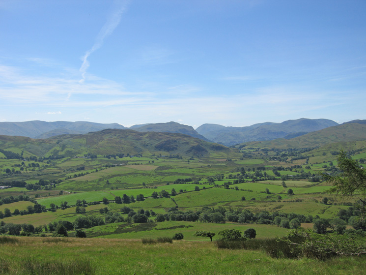 The view south from Great Mell Fell