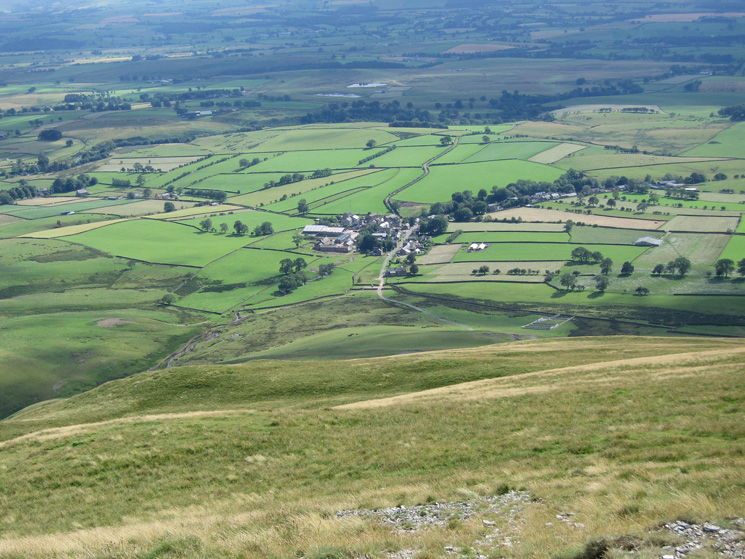 Looking down on Murton from Murton Pike's summit