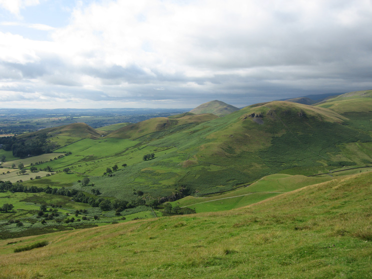Looking north westerly to the pointed Dufton Pike