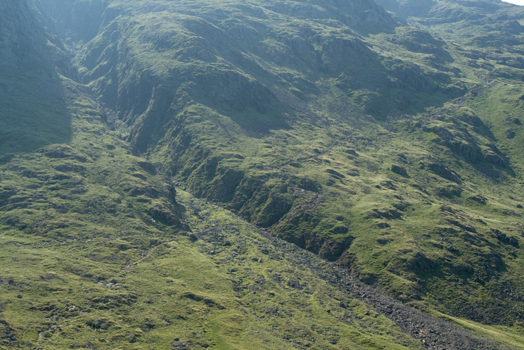 The Corridor Route crossing the bottom of Skew Gill