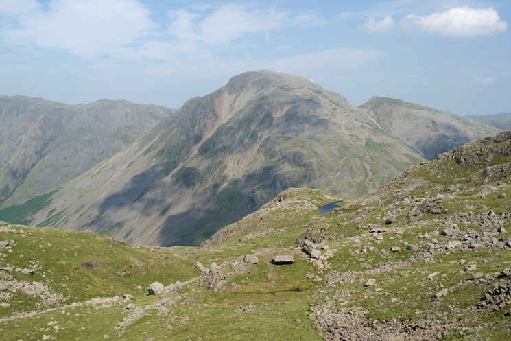 Looking back to Lambfoot Dub with Great Gable behind