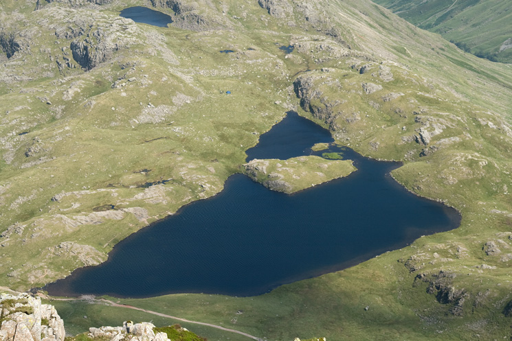 A birds eye view of Sprinkling Tarn