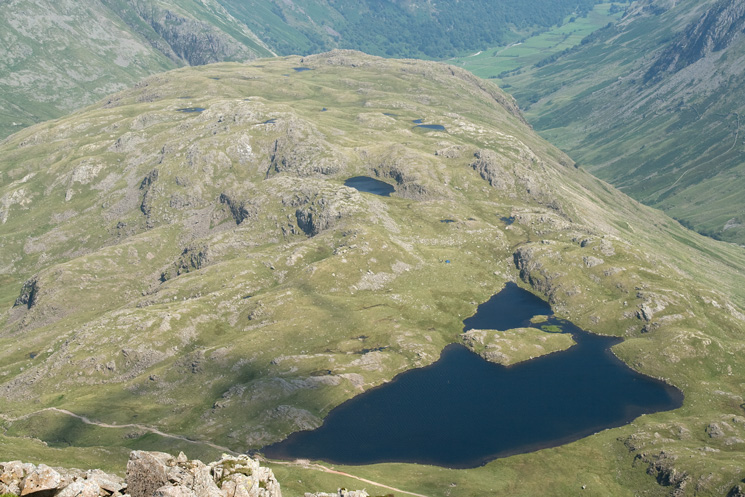 Seathwaite Fell and Sprinkling Tarn