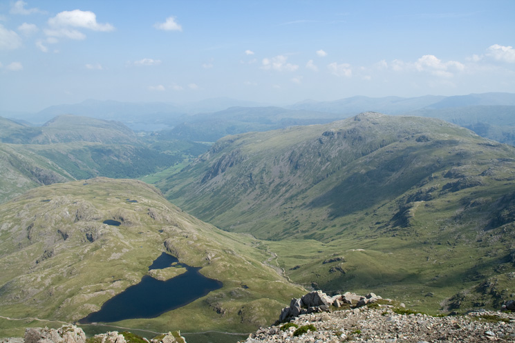 Seathwaite Fell, Sprinkling Tarn and Glaramara