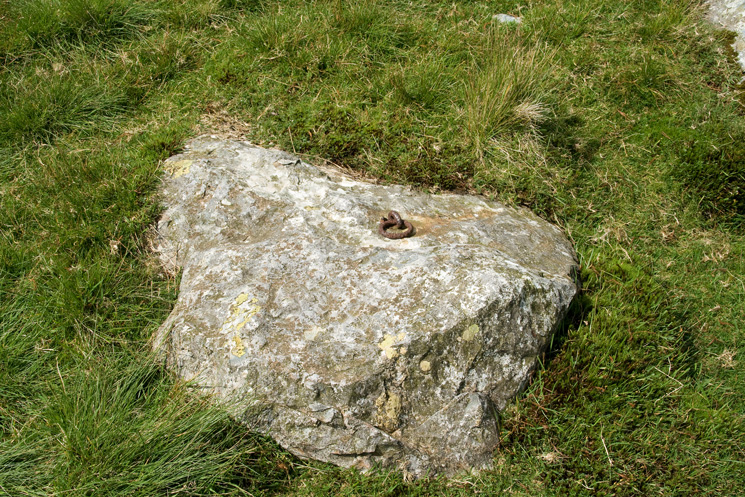 Iron ring in Calf Cove, used to tether ponies, visitors continued to Scafell Pike's summit on foot from here