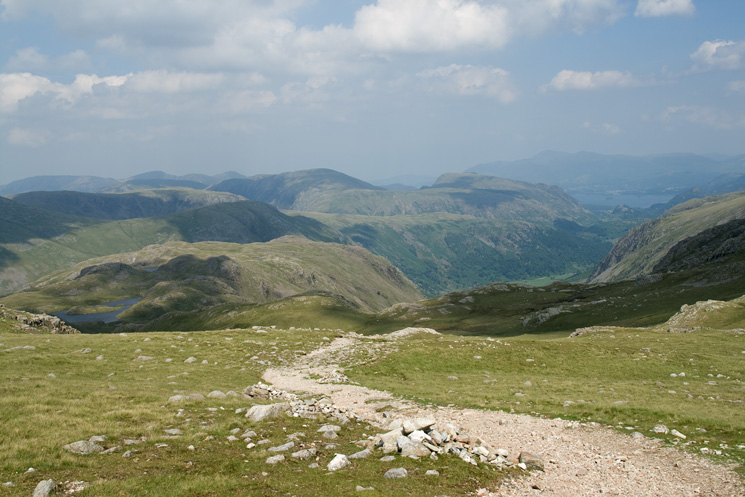 The 'Borrowdale path' from Esk Hause