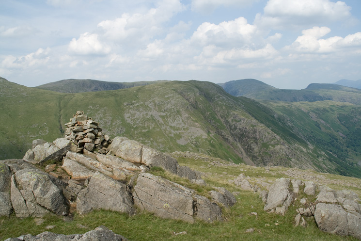 Base Brown from Wainwright's Seathwaite Fell top