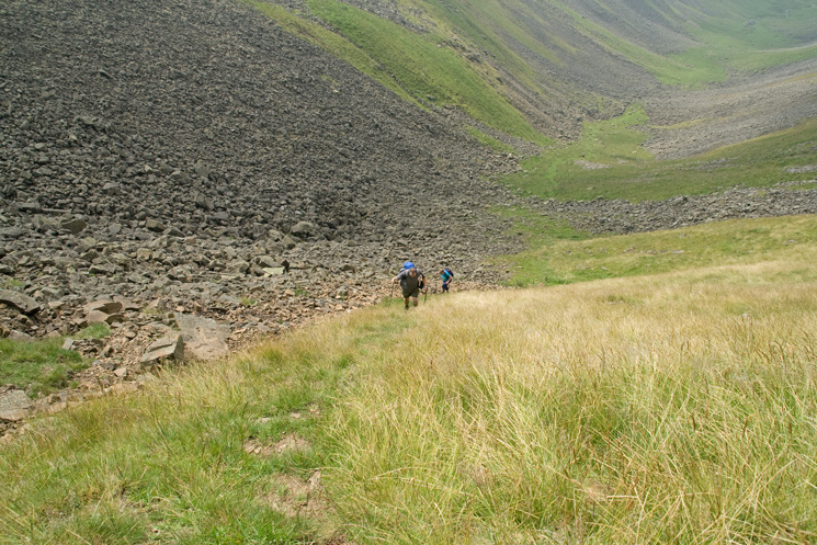A steep climb up out of the gill