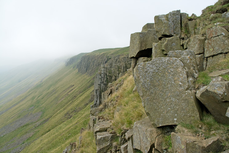 High Cup Gill's northern escarpment