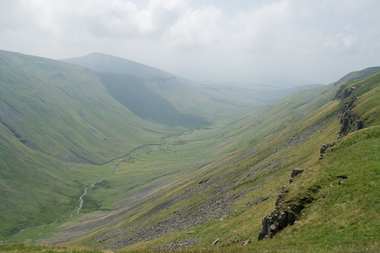 Looking across High Cup Gill to Murton Pike