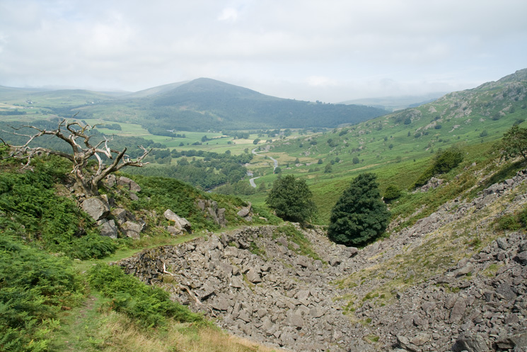 The Pike from the rocky ravine above Stonestar