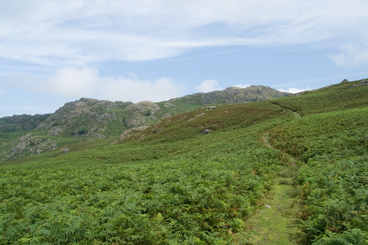 The Dunnerdale Fells, the summit I want is on the left