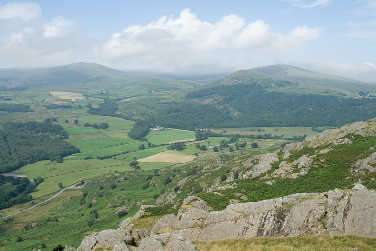 Whitfell (left) and The Pike with Hesk Fell behind (right)