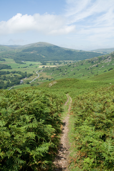 On the Public Bridleway with The Pike ahead