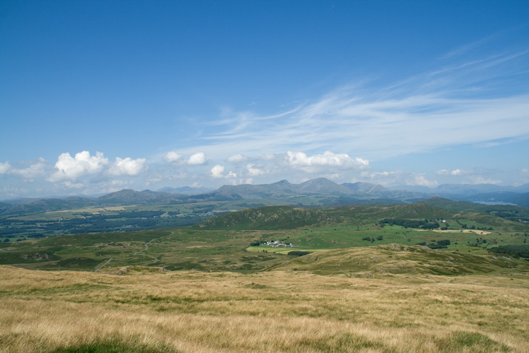 The view north from Great Burney's north ridge