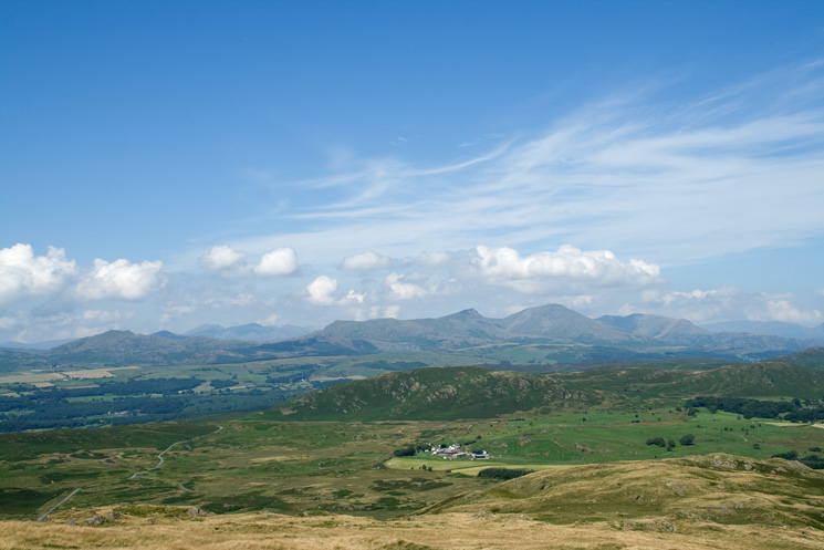 Looking over Blawith Knott to the Coniston Fells