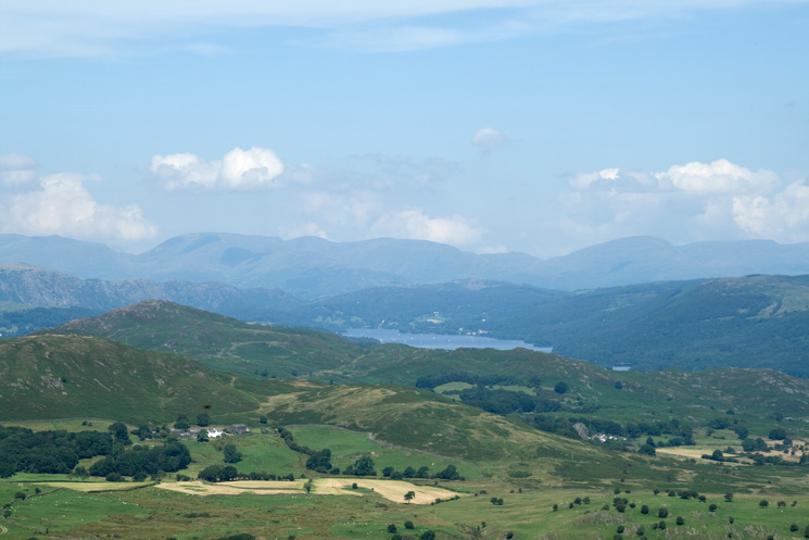 Coniston Water with Fairfield and Red Screes behind
