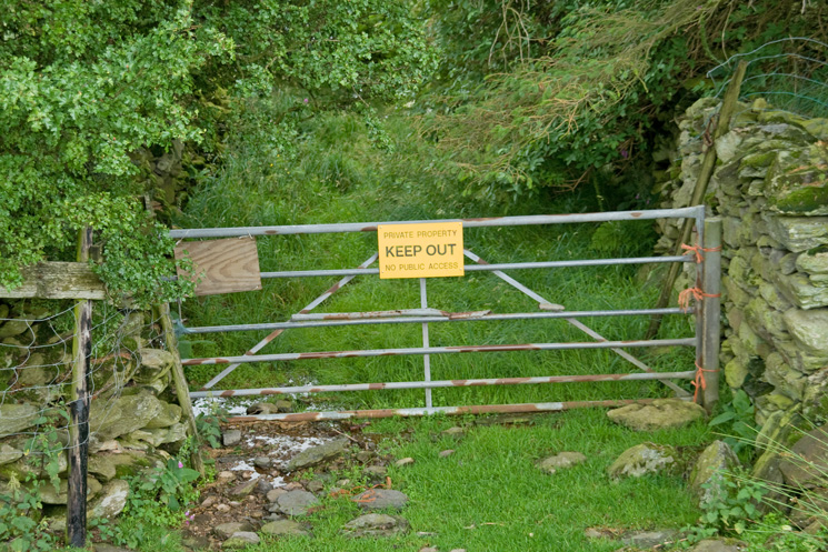 The gate by Carhullan out onto the fell side, I guess they don't want you going that way!
