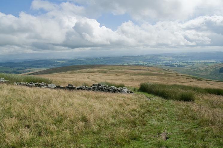 Looking back down on The Pen from the bield marked on the OS map