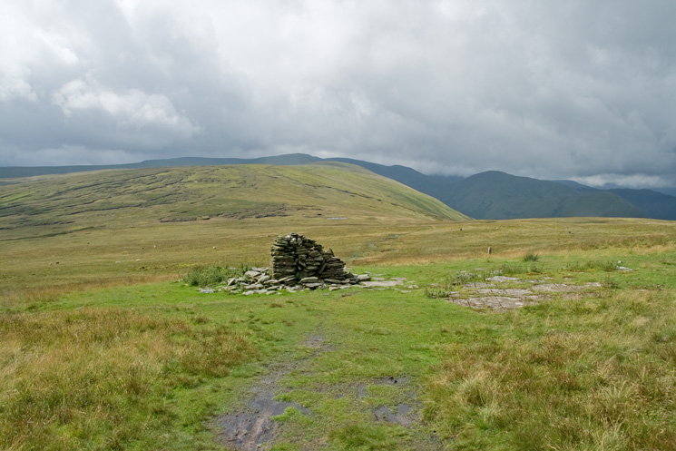 Wether Hill from the remains of Lowther House, a former shooting lodge