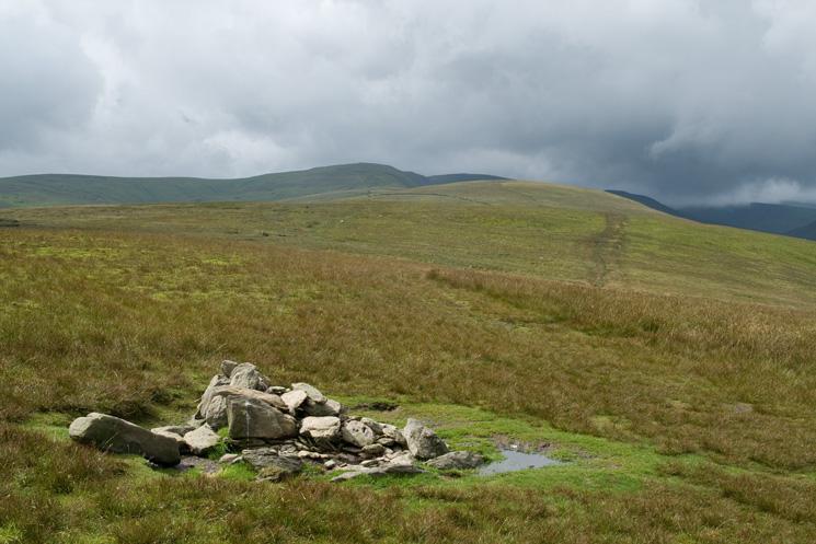 The High Street Roman Road south to Red Crag and then High Raise from Wether Hill's summit cairn