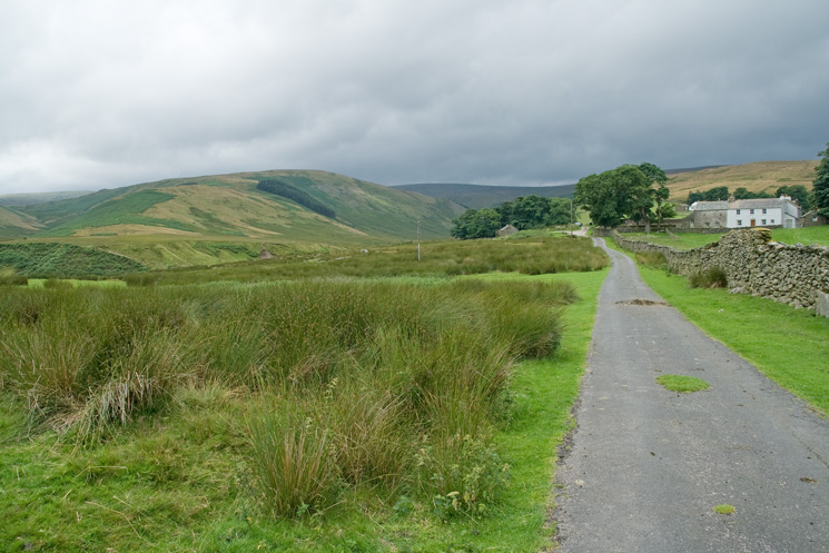 The Hause on the left and The Pen behind Moorahill Farm on the right