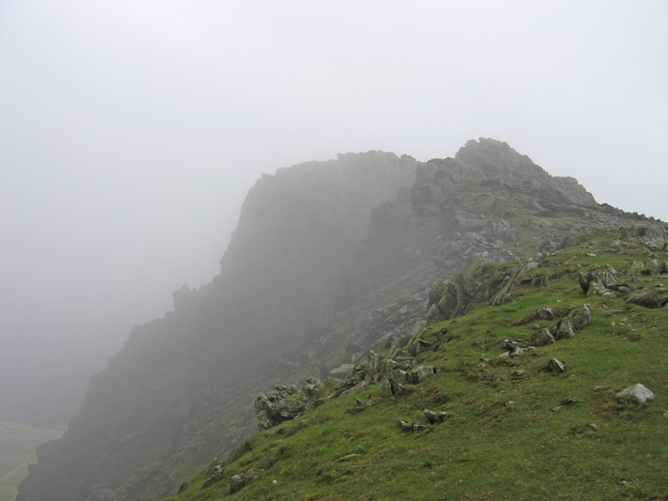 Looking towards Dow Crag's summit rocks