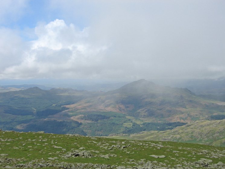 Green Crag and Harter Fell from Dow Crag