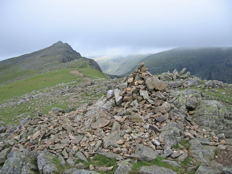 Looking back to Dow Crag from Buck Pike's summit