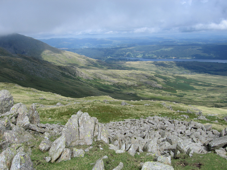Looking towards the head of Coniston Water from White Maiden
