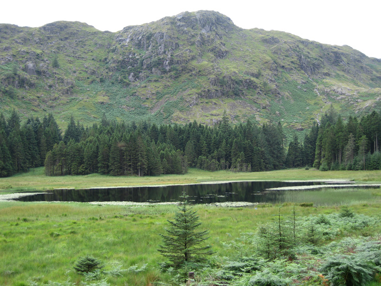 Harrop Tarn and Tarn Crags, the view has been opened up by the felling