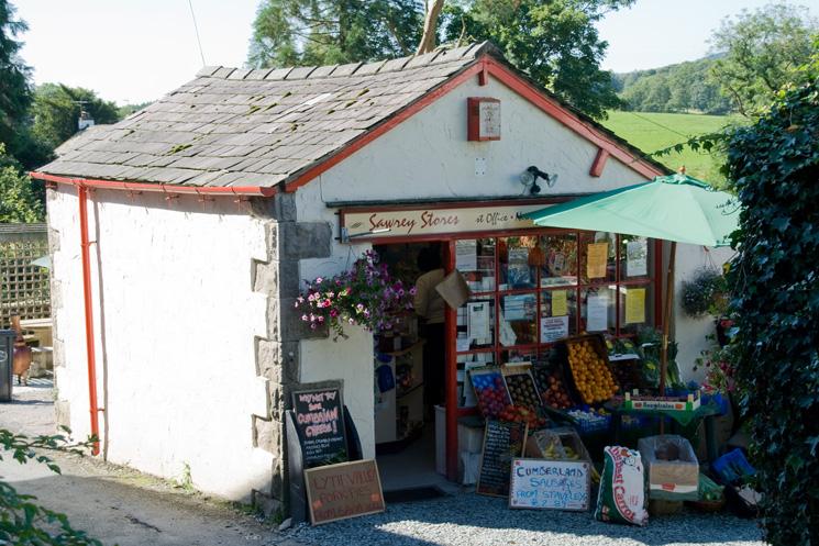 Sawrey stores in the village of Far Sawrey