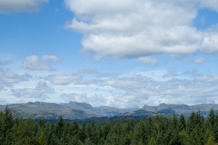 The Langdale fells - Crinkle Crags to High Raise