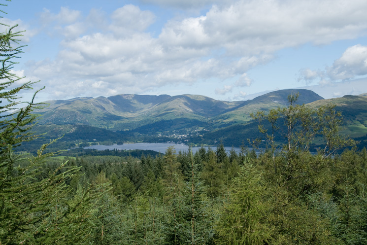 Looking across Windermere to the Fairfield Horseshoe and Red Screes