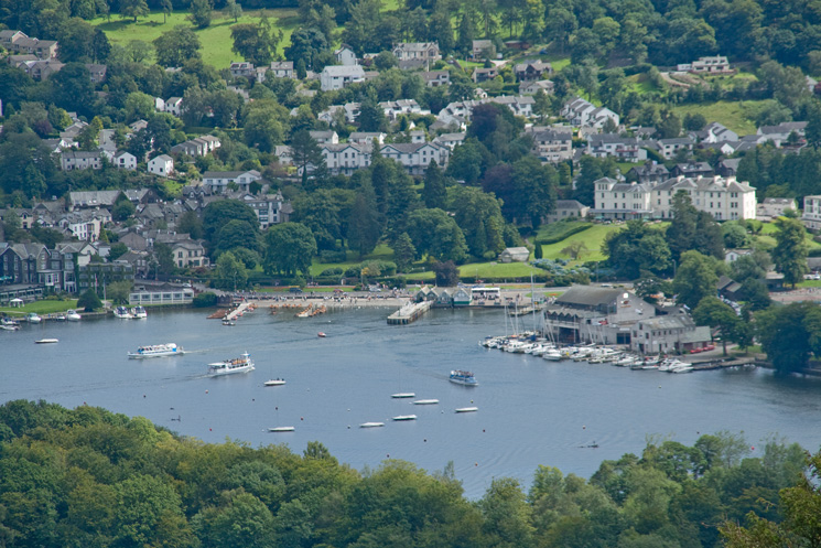 Bowness-on-Windermere from Low Blind How